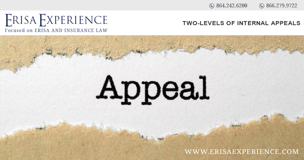 Two-levels of Internal Appeals