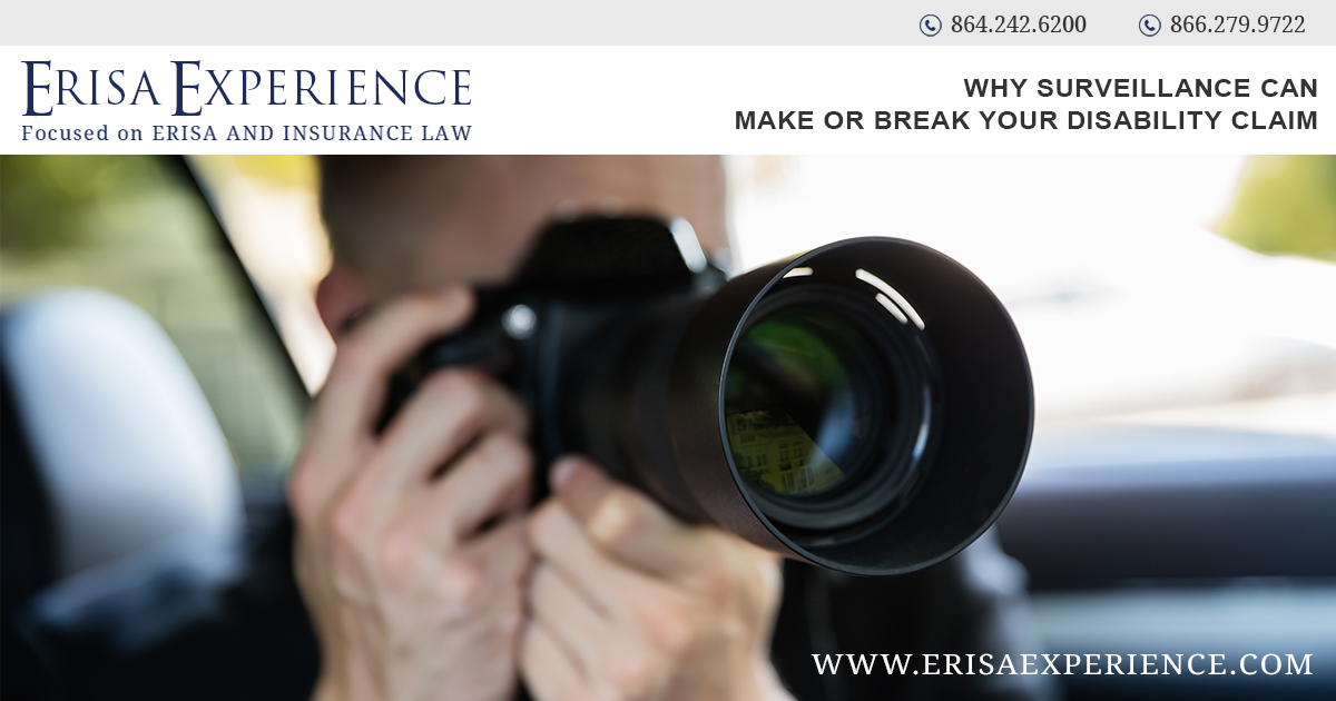 Why Surveillance Can Make or Break Your Disability Claim